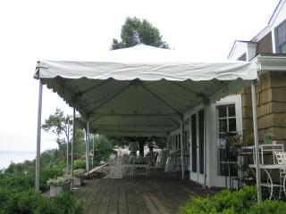 It is a frame tent which means it can be installed on any surface but is recommended for use on decks ...  sc 1 st  Clarkstown Party Rentals & Tents u0026 Gazebos | Rental Categories | Clarkstown Party Rentals